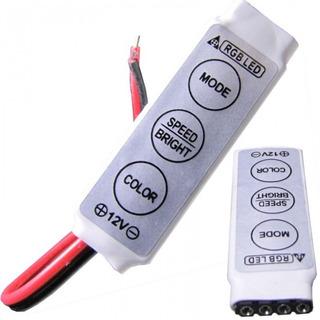 Mini Controlador Dimmer 12v Para Fita De Led Rgb