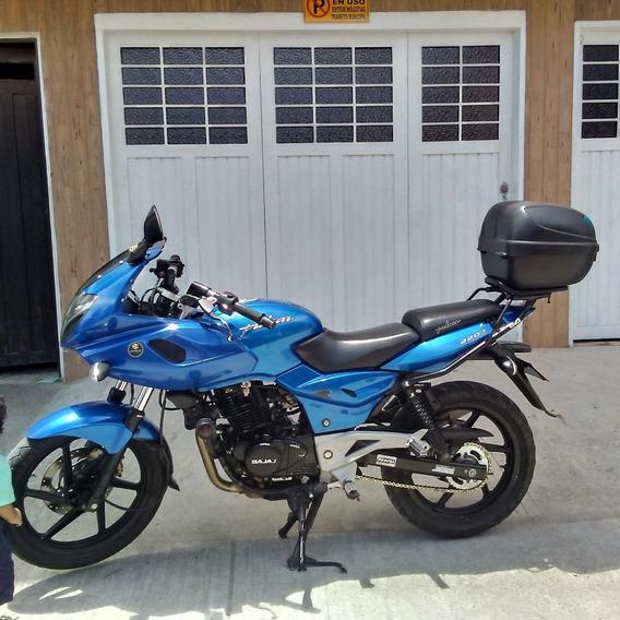 Pulsar 220 F Azul Con Maleta