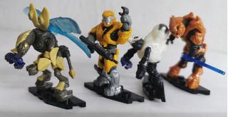 Cuatro Figuras Halo Megaconstrux Armables 76a