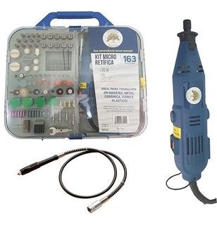 Micro Mini Retifica Furadeira + Lixadeira 163pçs 110v / 220v