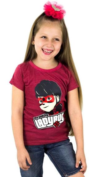 Franela Niña Momo Kids Rojo Ladybug Estampada Detal Mayor