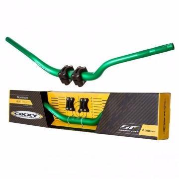 Guidão Oxxy Verde Alto Com Adaptador