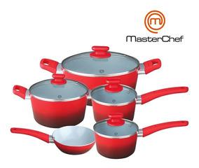 Jogo De Panelas 5 Pçs Cerâmica 2,5 Mm Original Master Chef