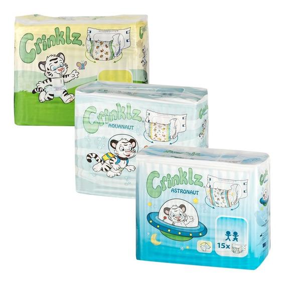 Crinklz Caja Mix Talla Mediana (caja De 45 Pañales Abdl)