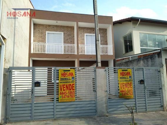Sobrado Residencial À Venda, Jardim Santo Antonio, Franco Da Rocha. - So0576