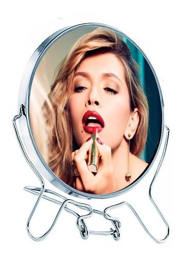 Espejo Maquillaje Makeup Doble Faz Con Aumento 8 Pulgadas