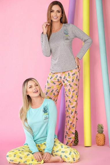 Pijama Piña Colada Mujer Juvenil Multiuso Tropical X1unidad