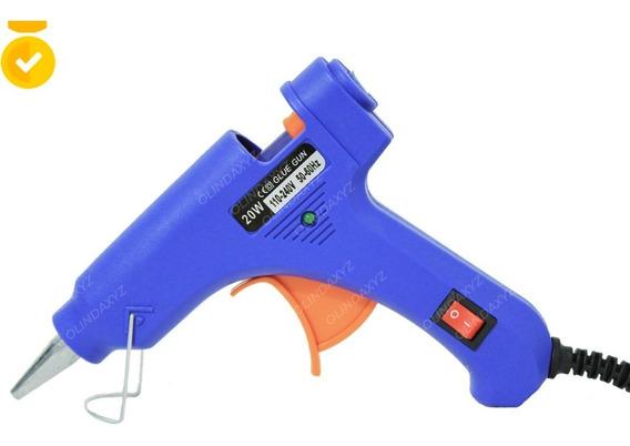 Pistola Pequena Cola Quente Silicone Bivolt Com Botão P Liga