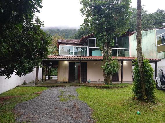 Casa Em Praia Grande Com Muito Verde, 600 Metros Da Praia