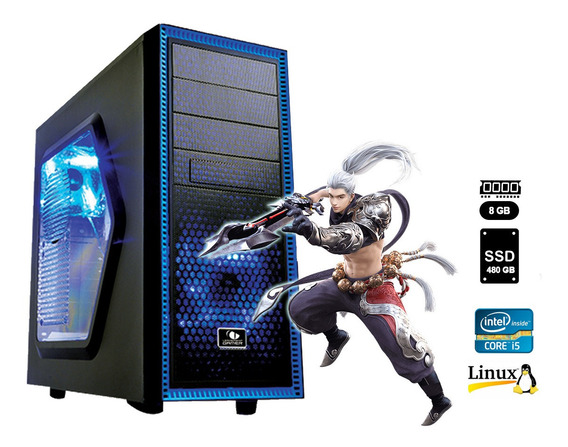 Pc Gamer Core I5 6ª G+8gb+ssd 480gb+rx570 4gb + Frete Grátis
