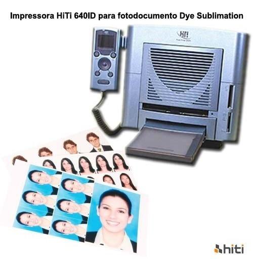Impressora Hiti 640id Para Fotodocumento Dye Sublimation