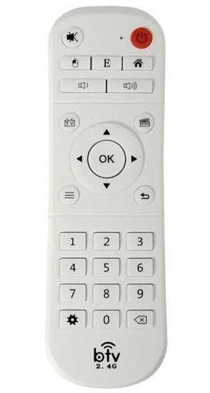 Controle Remoto Branco B-t-v 2,4ghz Bluetooth.