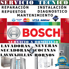 Reparación, Servicio Técnico Bosch Nevera Lavadora Secadora