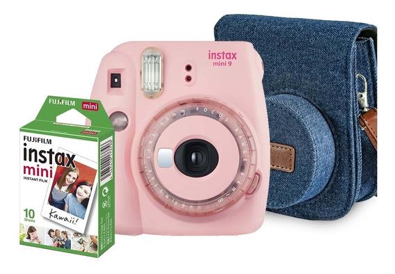 Kit Câmera Instantânea Fujifilm Instax Mini 9 Rosa Chiclé