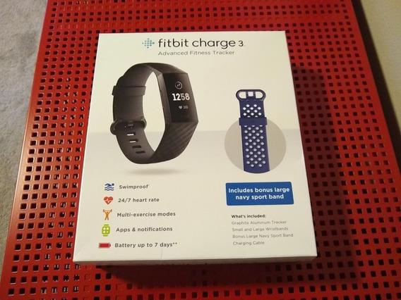 Fitbit Charge 3 Monitor Cardíaco Avançado 2ª Pulseira Gratis