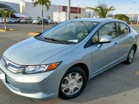 Honda Civic Ex Hybrid Cvt 2012 Plata