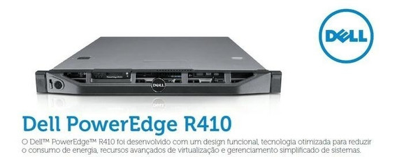 Servidor Dell Poweredge R410 4 Cores 2 X 1tb 32gb Ram