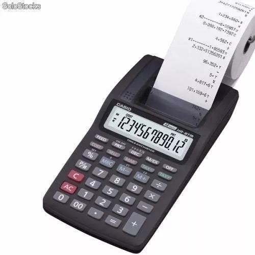 Calculadora C/ Bobina 12 Dígitos Hr 8 Rc Bk Casio