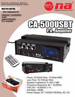Amplificador Publicidad Con Usb Sd 12v