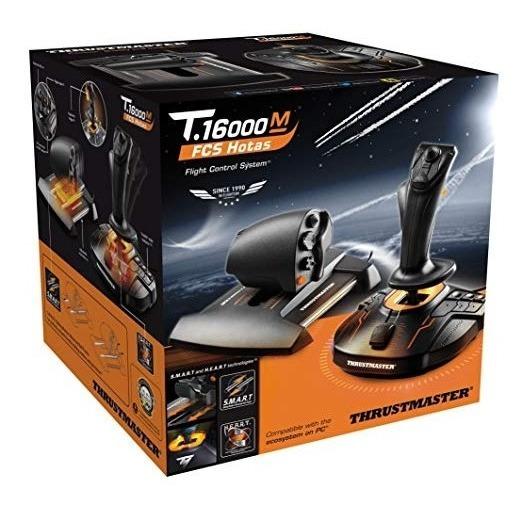 Controle Thrustmaster Joystick E Acelerador T-16000m Fcs Pc