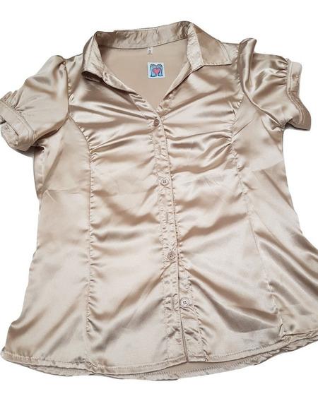 Camisa Manga Corta Elastizada Talle 2