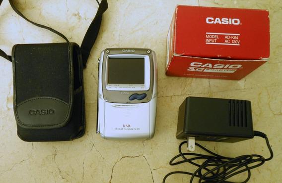 Mini Tv Portatil Casio 970b Lcd Color Adaptador Y Estuche