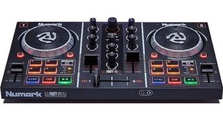 Controlador Dj Numark Party Mix Efecto Led Rgb Virtual Dj