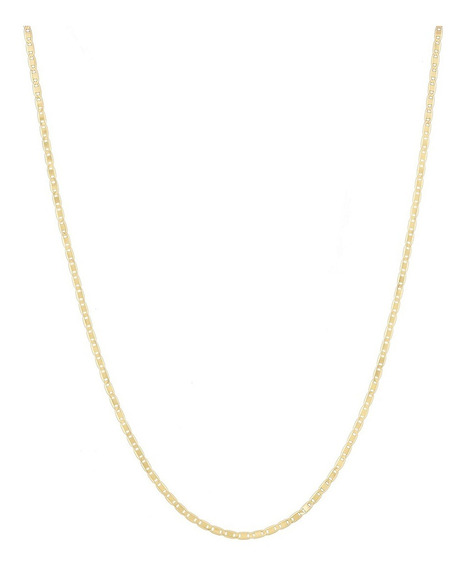 Corrente Piastrine 45cm Pingente Coração De Ouro 18k 750