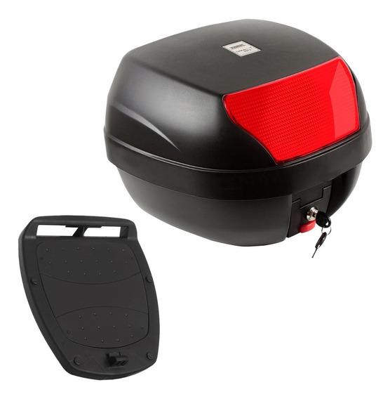 Bauleto Para Moto 28 Litros Bp03 Pro Tork Smartbox +suporte