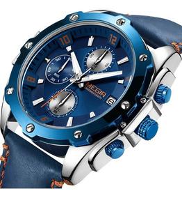 Relógio Megir Quartz Relógio Marrom