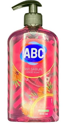 Imagen 1 de 3 de Jabón Líquido Abc Aroma Rosas 500ml Con Dispensador