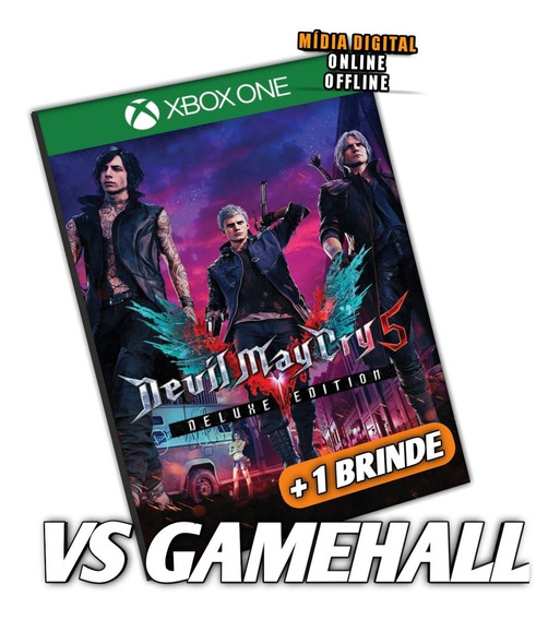 Devil May Cry 5 Ed. Deluxe Xbox One Mídia Digital + Brinde