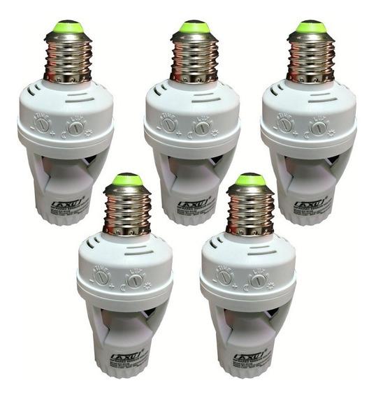5 Soquete E27 Sensor Presença Lâmpada Timer Ate 60w Economi