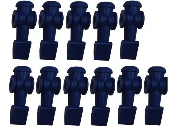 11 Bonecos Azuis Para Mesa De Pebolim Klopf - Cód. 2041