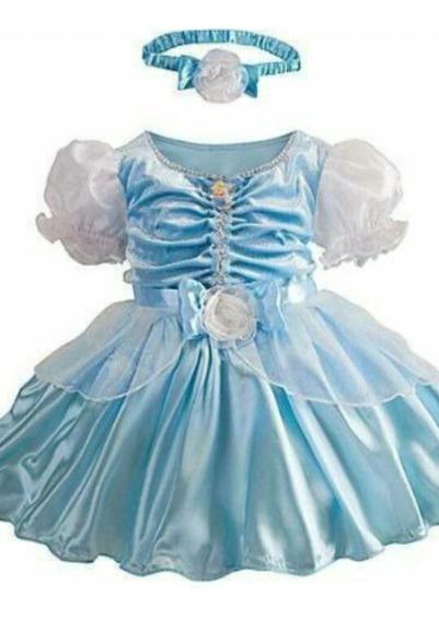 Aperfeiçoada Fantasia Da Princesa Cinderela. Baby!!!