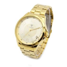 Relógio Masculino Tuguir Analógico 5020 Dourado (