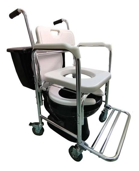 Silla Para Baño Discapacitados 3 En 1 Ducha Comodo Wc Ruedas
