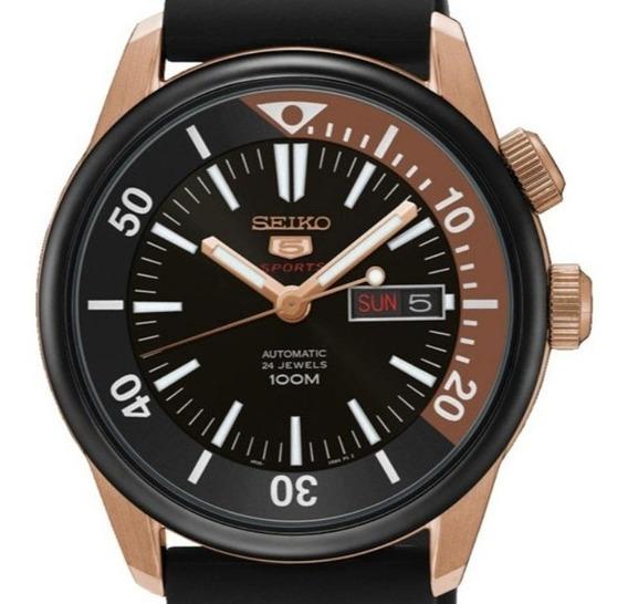 Reloj Hombre Seiko Srpb32k1 Automatico Acero Dorado Caucho
