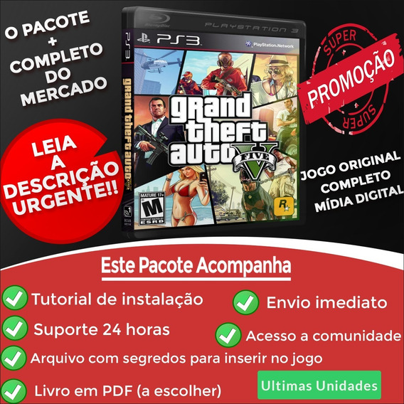 Gta V Ps3 Midia Digital Psn + Brinde Codigos Gta 5 Português