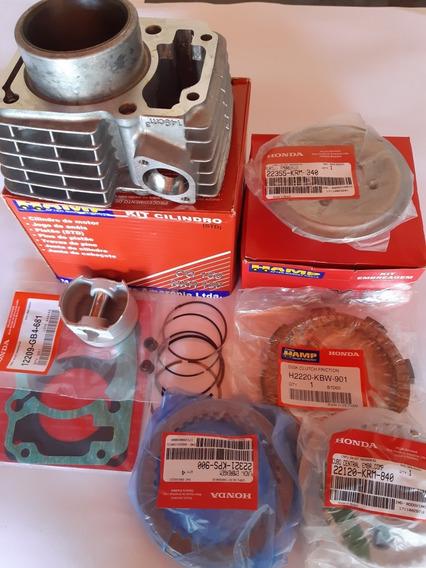 Kit Motor+kit Embreagem+2rolamentos Do Virabrequin Titan150