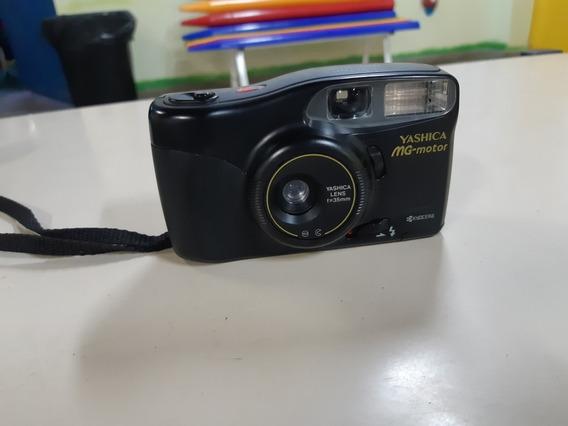 Câmera Analógica Máquina Fotográfica Yashica Mg Motor