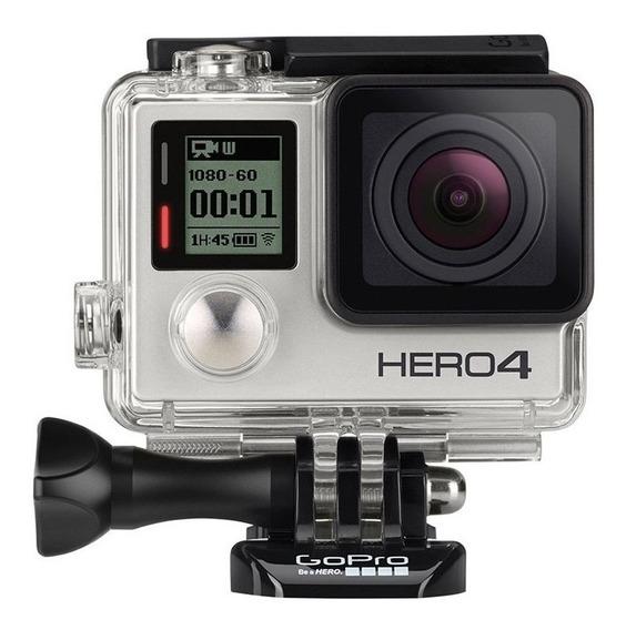Gopro Hero 4 Silver 4k + 3 Way Original + Acessórios