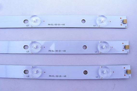 Kit Barras Led Tv Panasonic Tc-32d400be Novas