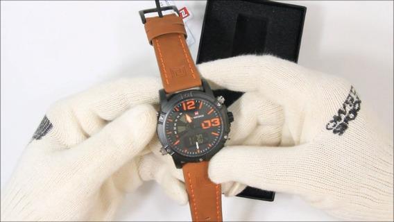 Naviforce Nf9095m Relógio Movt Duplo Masculino