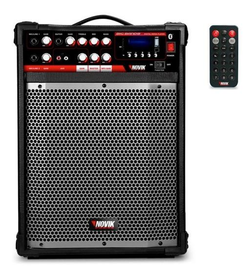 Caixa Multiuso 80w Rms Novik Neo Big Band 8 Bt Usb Fm Promo