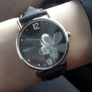 Relógio Pulso Feminino Mulher Flor Luxo Yazole