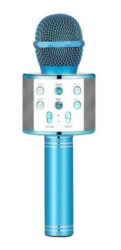 Imagen 1 de 1 de Microfono Karaoke Bluetooth 838 + Parlante Inalambrico Luces