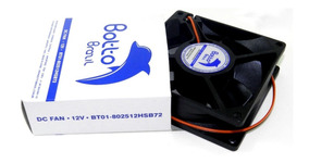 Micro Ventilador 80x80x25 Mm Fan Cooler 12v Dc Mini 8cm 80mm