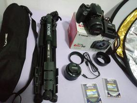 Camera Canon Rebel T6 + Acessórios