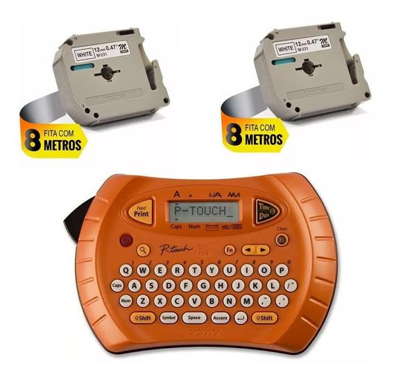 Kit Com 1 Fita M231 Inicial + 1 Fita M231 Extra + 1 Rotuladora Pt70 Portátil Brother Com Nota Fiscal